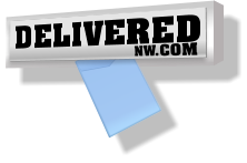 DeliveredNW leflet delivery logo